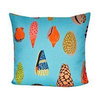 Loom and Mill Aqua Shells Throw Pillow