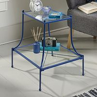 Sauder Eden Rue Glass Top End Table
