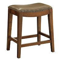 OSP Designs Nailhead Saddle Counter Stool