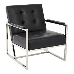 Ave Six Nathan Tufted Faux-Leather Accent Chair