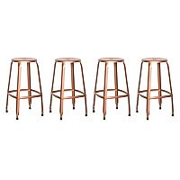 OSP Designs Newark Metal Backless Bar Stool 4-piece Set