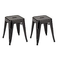 OSP Designs Patterson Metal Backless Stool 2-piece Set