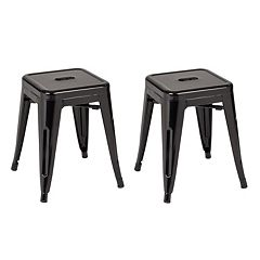 OSP Designs Patterson Metal Backless Stool 2 pc Set