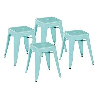 OSP Designs Patterson Metal Backless Stool 4-piece Set