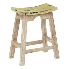 OSP Designs Rustic Saddle Stool