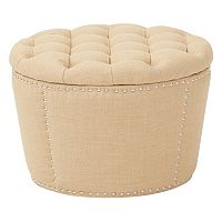 Ave Six Lacey Tufted Nesting Ottoman 2 pc Set