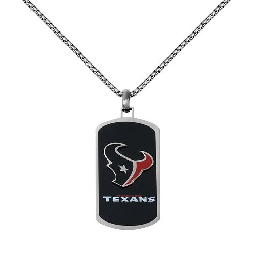 Men's Stainless Steel Houston Texans Dog Tag Necklace