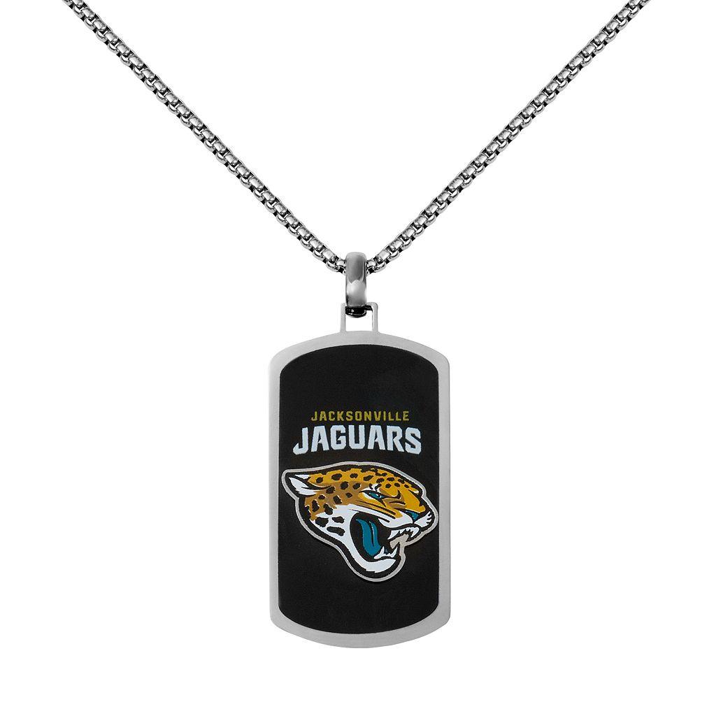 Men's Stainless Steel Jacksonville Jaguars Dog Tag Necklace