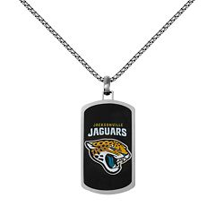 Men's Stainless Steel Jacksonville Jaguars Dog Tag Necklace