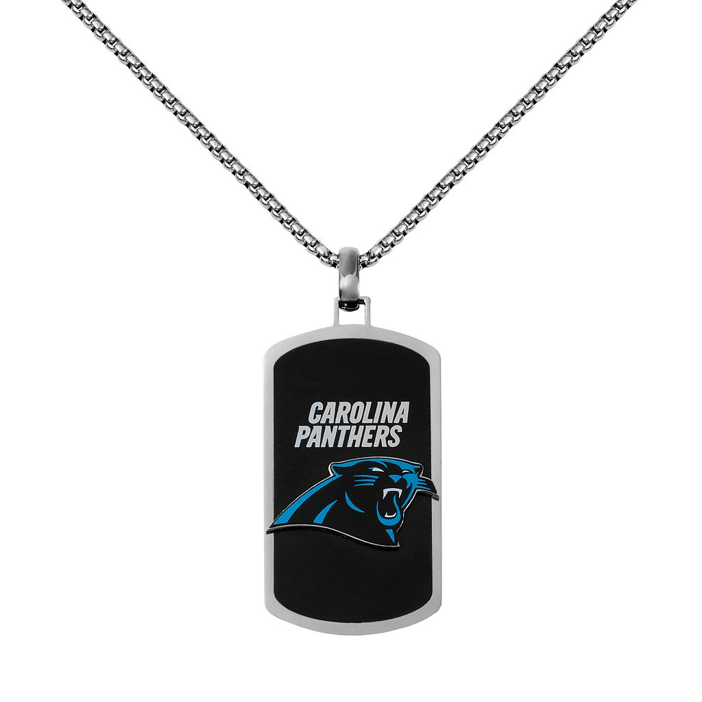 Men's Stainless Steel Carolina Panthers Dog Tag Necklace