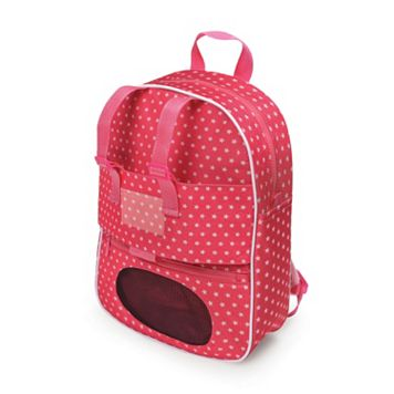 Badger Basket Doll Travel Backpack with Plush Friend Compartment