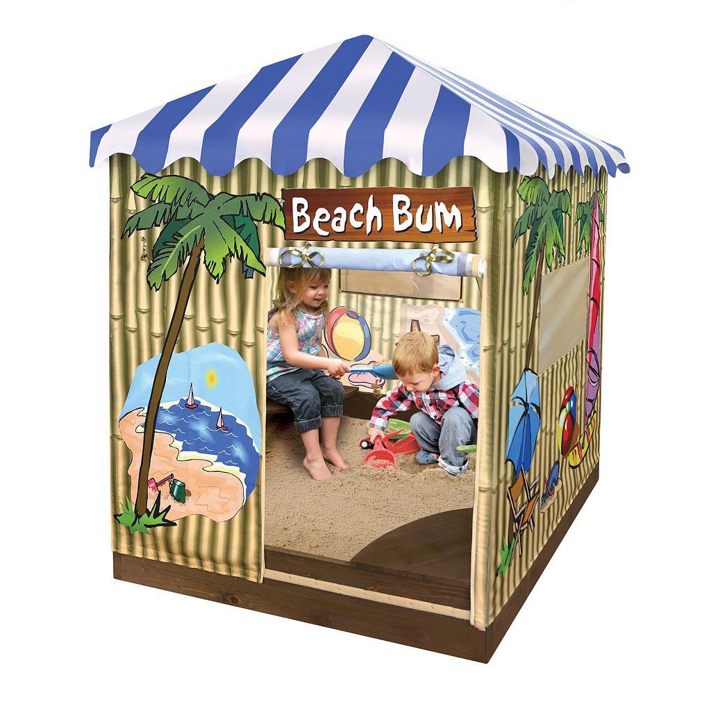 Badger Basket Beach Bum Covered Cabana Sandbox & Playhouse