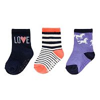 Baby / Toddler Girl Carters 3 pkCrew Socks
