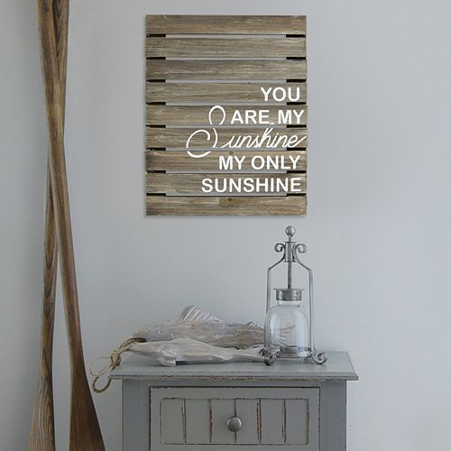 "Stratton Home Decor ""You Are My Sunshine"" Wood Plank Wall Decor"
