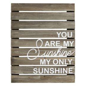 "Stratton Home Decor ""You Are My Sunshine"" Wood Plank Wall Decor"