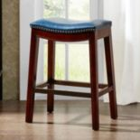 "Madison Park Nomad 27"" Saddle Counter Stool"
