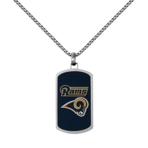 Men's Stainless Steel Los Angeles Rams Dog Tag Necklace