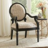 Madison Park Covington Exposed Wood Arm Chair