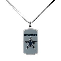Men's Stainless Steel Dallas Cowboys Dog Tag Necklace