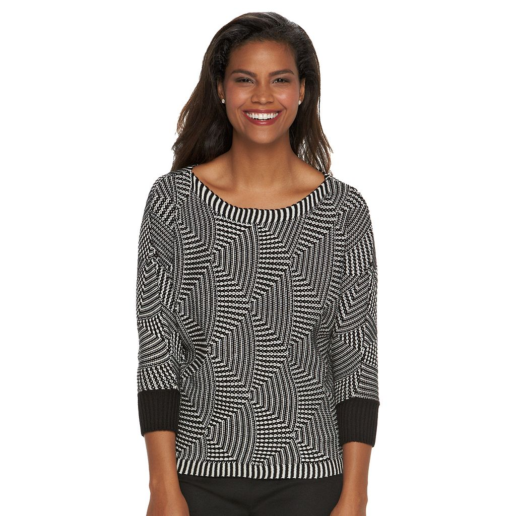 Women's Dana Buchman Textured Boatneck Sweater