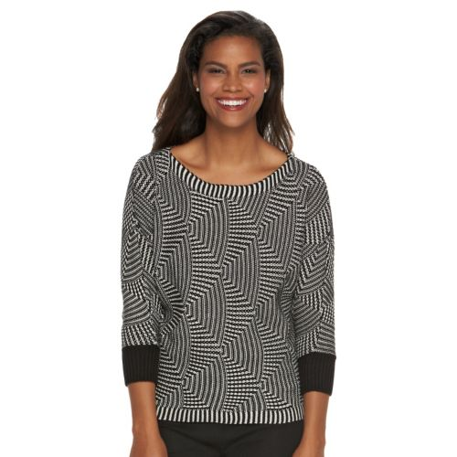 Women's Dana Buchman Textured Boatneck Sweater