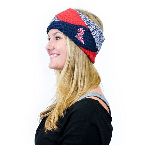 Women's ZooZatz Ole Miss Rebels Criss-Cross Headband