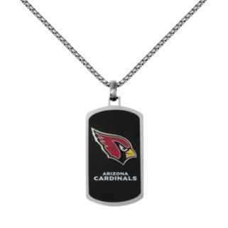 Men's Stainless Steel Arizona Cardinals Dog Tag Necklace