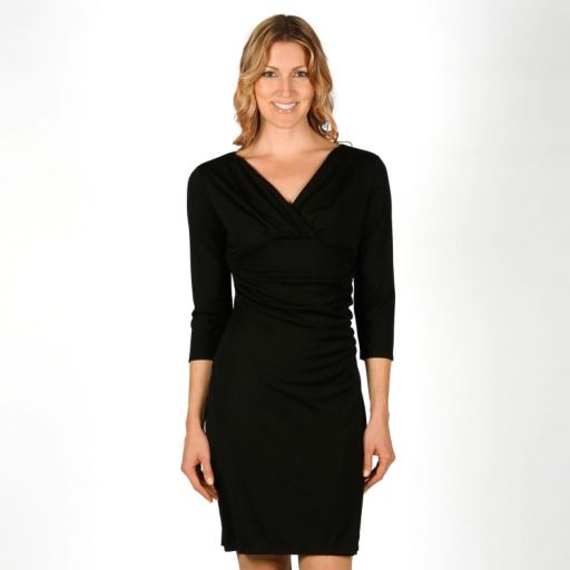 Women's Larry Levine Ruched Surplice Sheath Dress