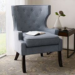 Madison Park Kyle Tufted Wing Chair