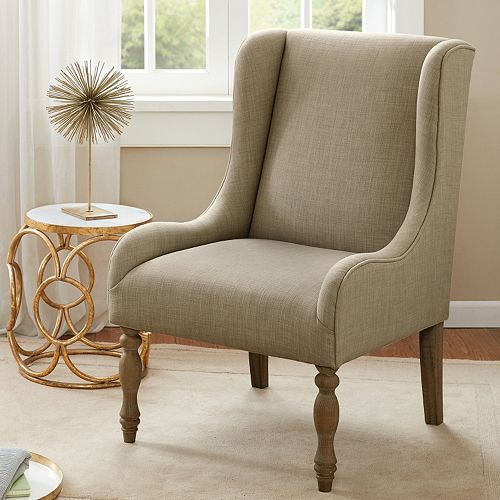Madison Park Klaus Turned Leg Wing Chair