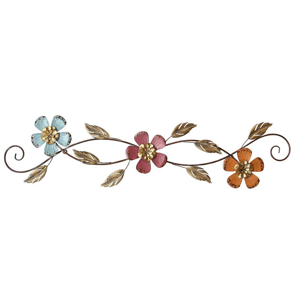 Stratton Home Decor Floral Scroll Metal Wall Decor