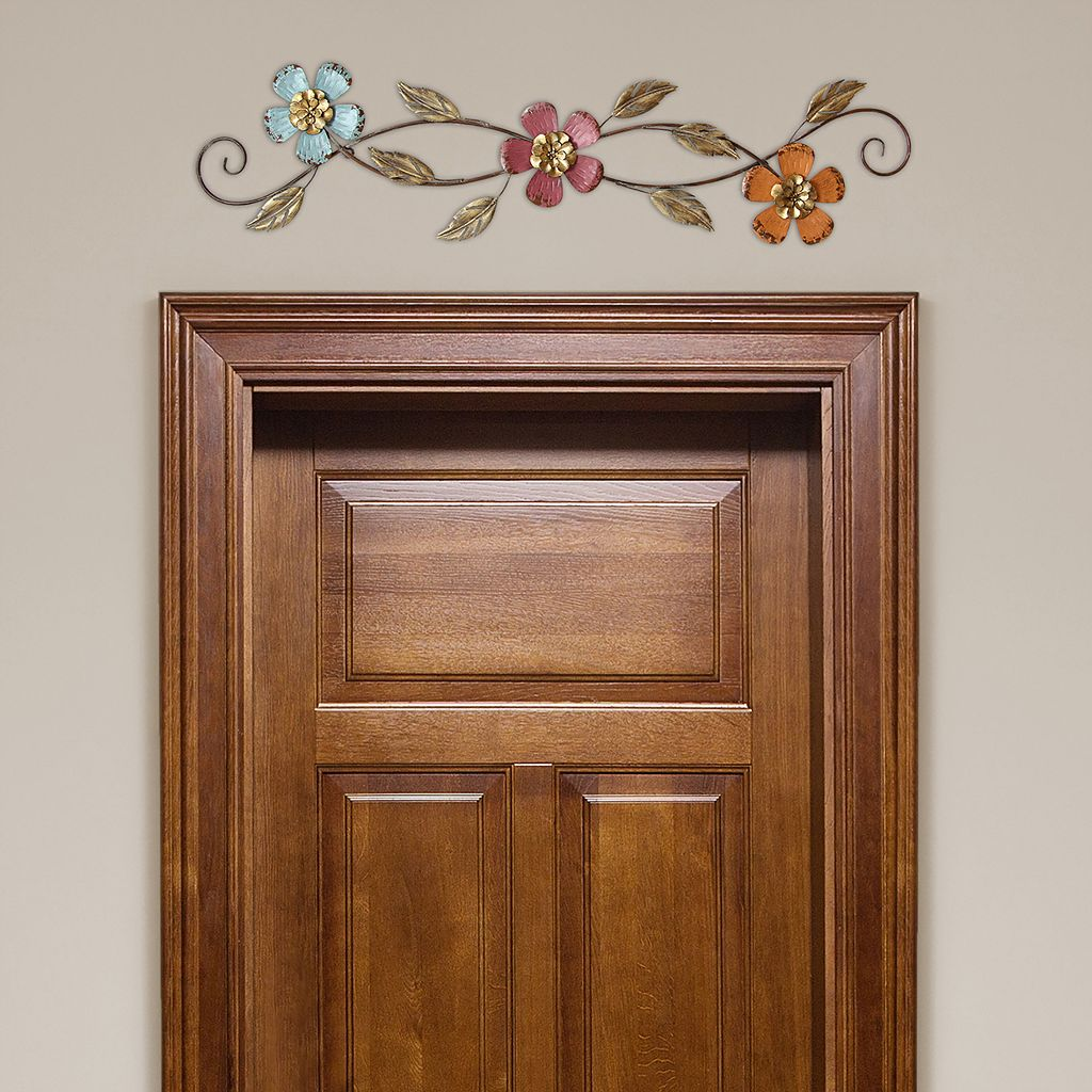 Stratton Home Decor Floral Scroll Metal Wall Decor