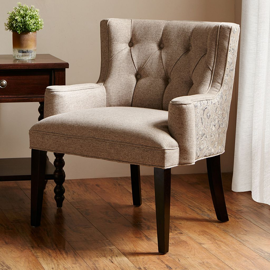 Madison Park Layla Tufted Roll Arm Chair