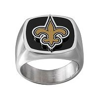 Men's Stainless Steel New Orleans Saints Ring