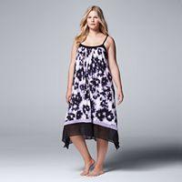 Plus Size Simply Vera Vera Wang Pajamas: Saturday Slumber Chemise