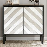 Madison Park Claire Chevron Mirror Accent Chest