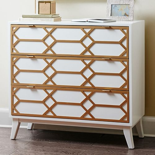 Madison Park Gabrielle Lattice Accent Chest