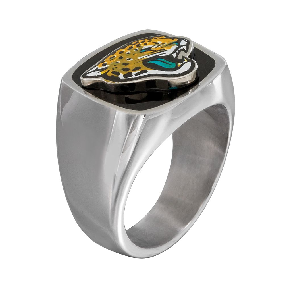 Men's Stainless Steel Jacksonville Jaguars Ring