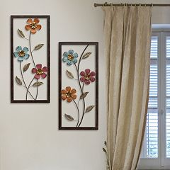 Stratton Home Decor Metal Floral Panel Wall Decor 2-piece Set