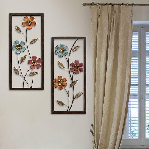 Stratton Home Decor Metal Floral Panel Wall Decor 2-piece Set