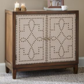 Madison Park Aubrey Two-Tone Nailhead Accent Chest