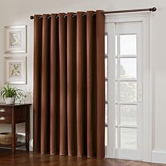 Style Domain 1-Panel Antique Satin Patio Door Curtain
