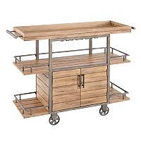 Madison Park Levi Vintage Bar Cart