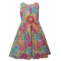 Girls 4-6x Jessica Ann Fuchsia Floral Dress