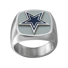 Men's Stainless Steel Dallas Cowboys Ring
