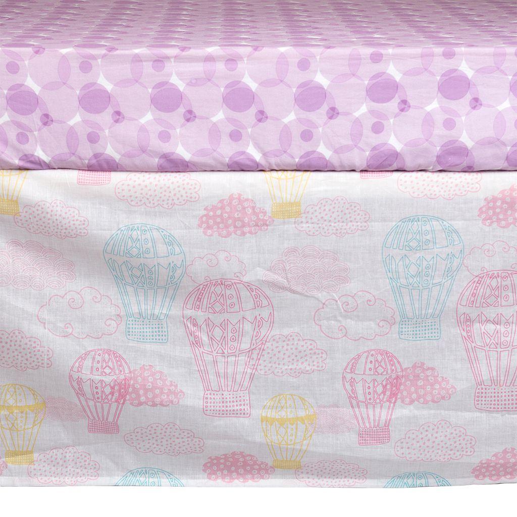 Poppi Living Dreamscape Hot Air Balloon 3-pc. Crib Bedding Set
