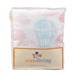 Poppi Living Dreamscape Hot Air Balloon Front Crib Rail Cover