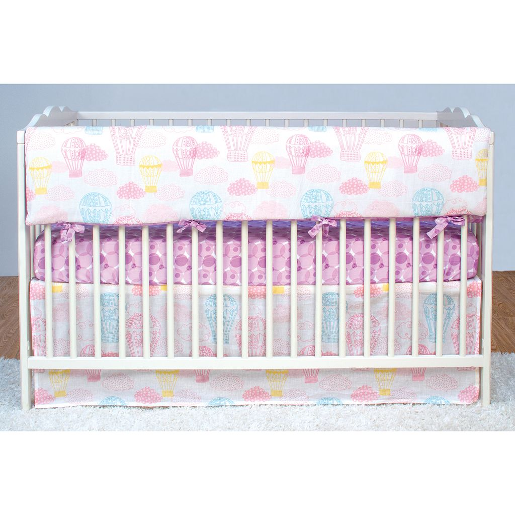 Poppi Living Dreamscape Hot Air Balloon Front Crib Rail Cover