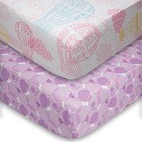 Poppi Living 2-pk. Dreamscapes Hot Air Balloon Fitted Crib Sheet Set