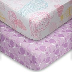 Poppi Living 2 pkDreamscapes Hot Air Balloon Fitted Crib Sheet Set